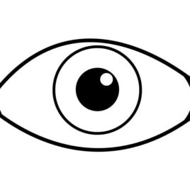 eye coloring page - human eye coloring page free printable coloring pages 8