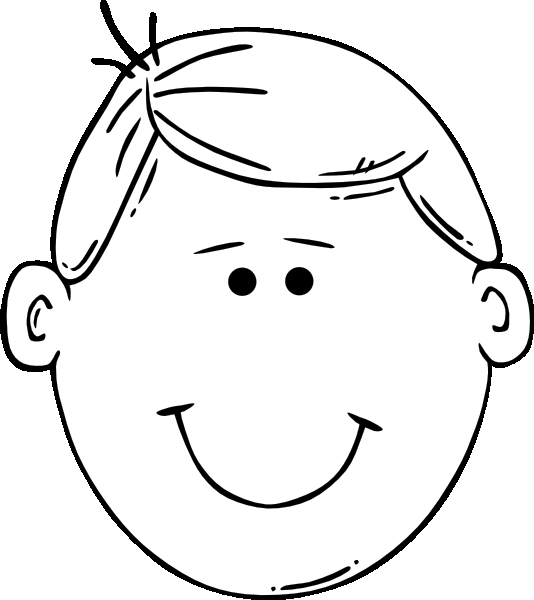 face coloring page - r=blank head