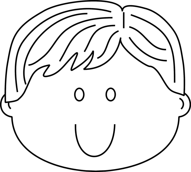 face coloring page - boy face coloring pages