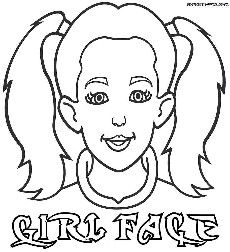 face coloring page - face coloring pages