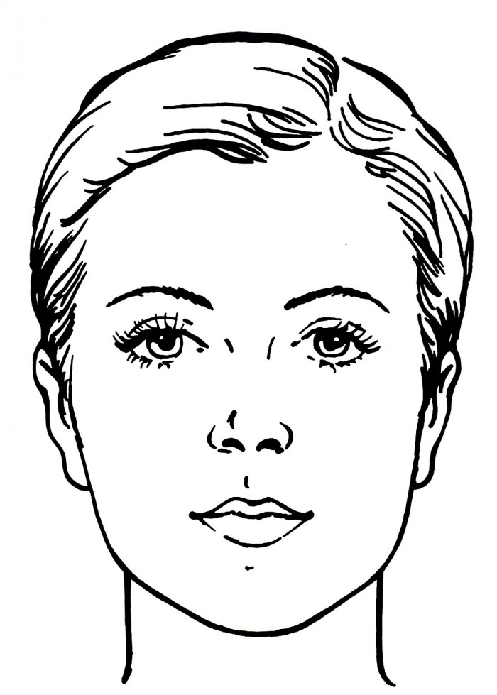 face coloring page - face coloring pages for kids