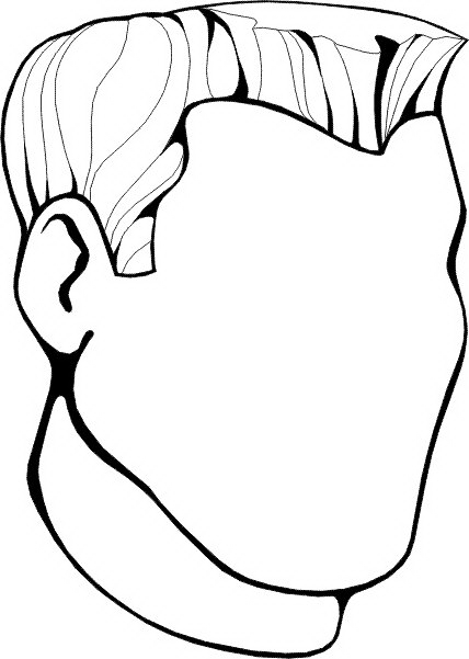 face coloring page - faces