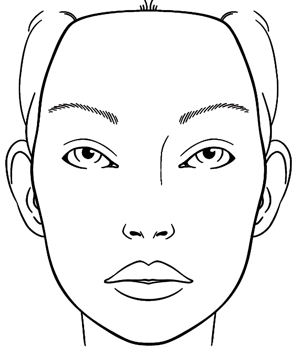 face coloring page - r=blank face