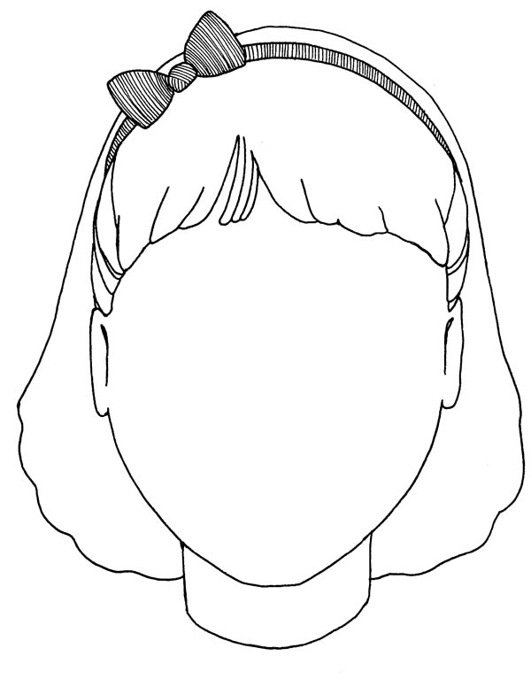 face coloring page -