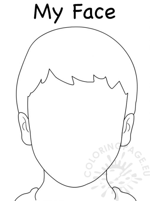 face coloring page - people