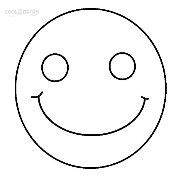 face coloring page - printable smiley face coloring pages