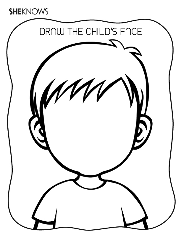 face coloring page - create the face page