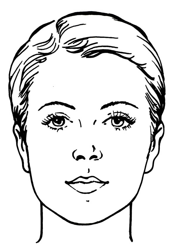 face coloring page - water works face coloring page