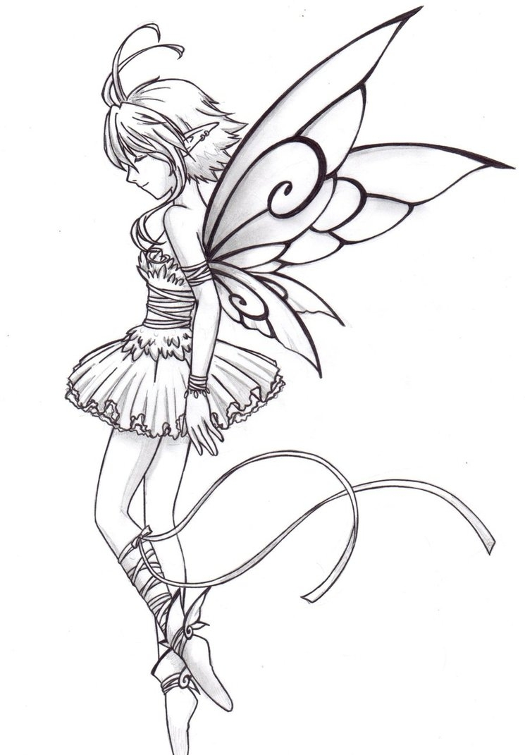 fairy coloring pages for adults - Fairy ballet dancer