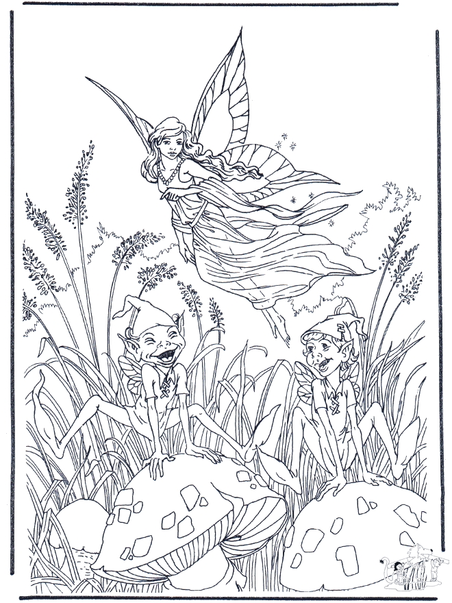 Fairy Coloring Pages for Adults - Fliegender Elfe Ausmalbilder Elfen