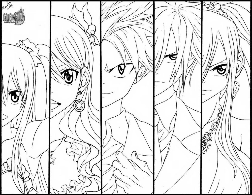 fairy tail coloring pages - fairy tail erza coloring pages