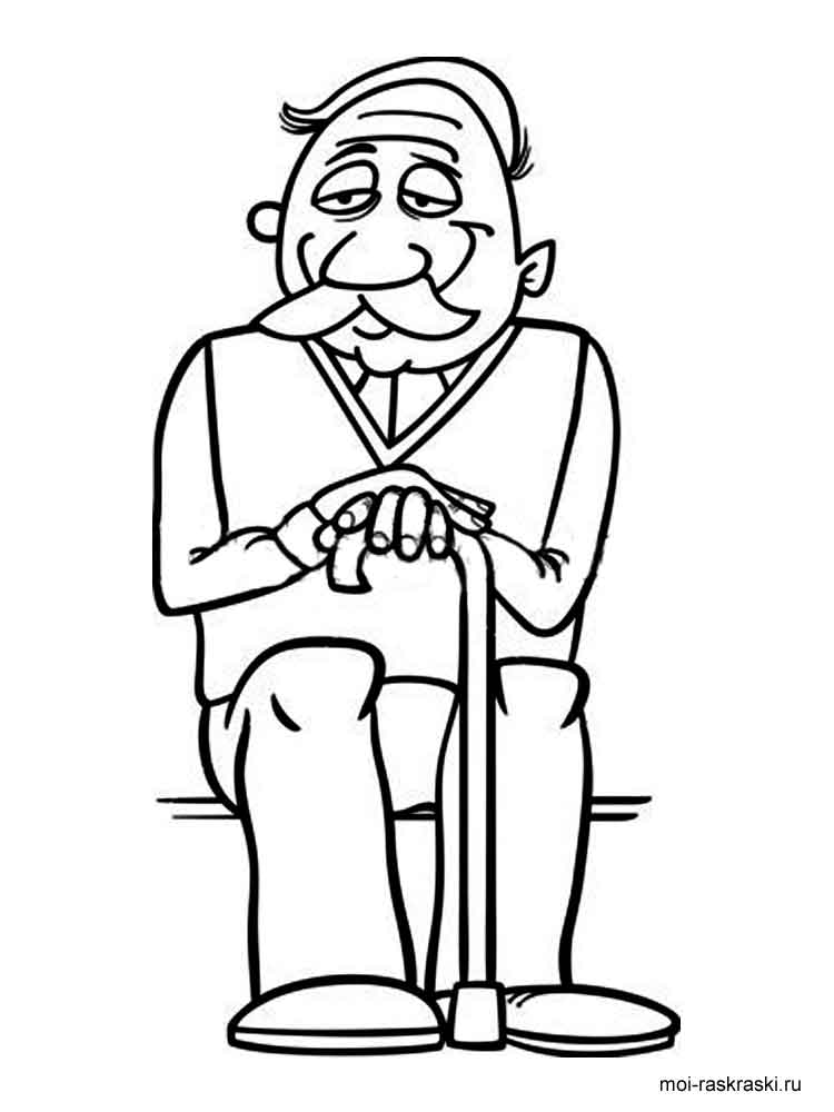 fairy tale coloring pages - grandpa coloring pages