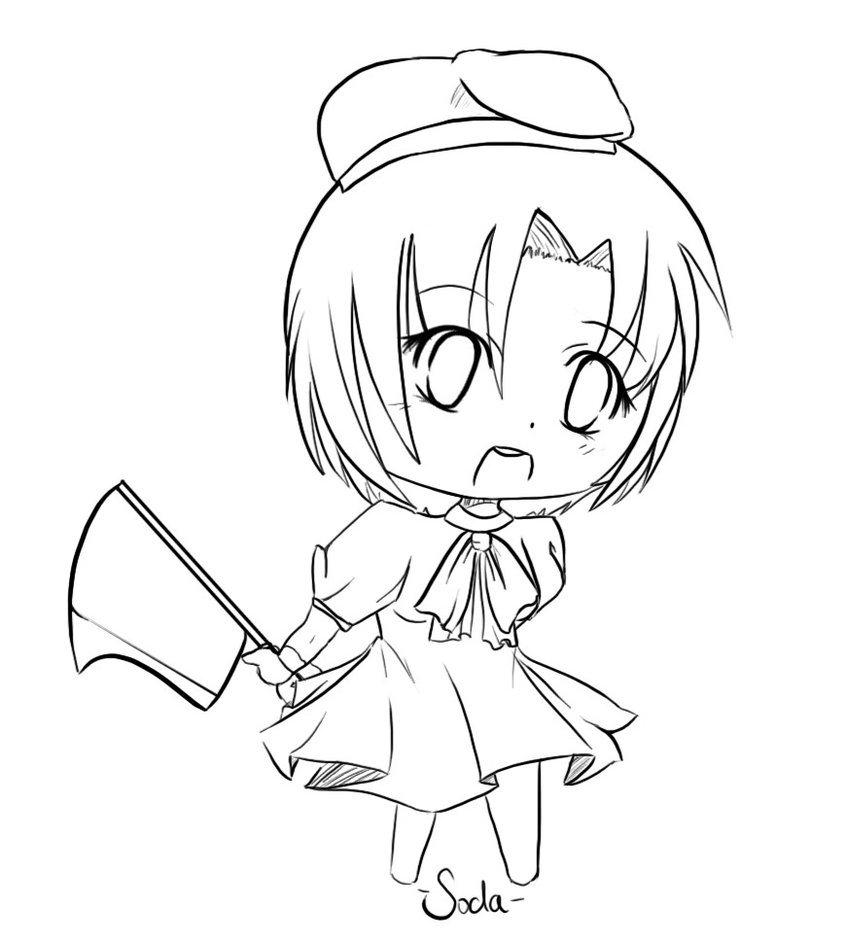 fairy tale coloring pages - Rena Chibi Lineart