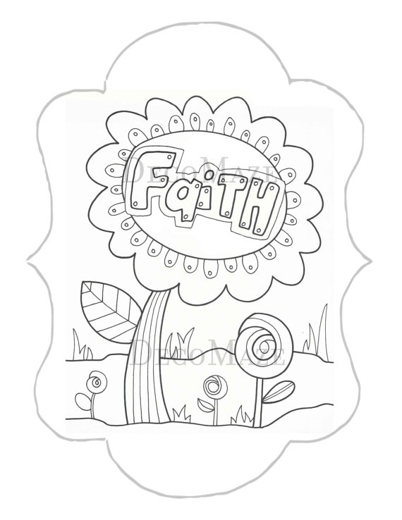 faith coloring pages - faith coloring page flower coloring page