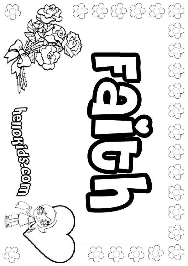 faith coloring pages - faith