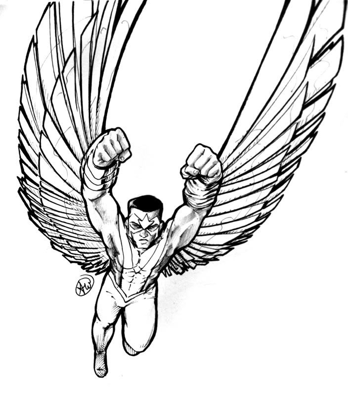 falcon coloring pages - lineart falcon