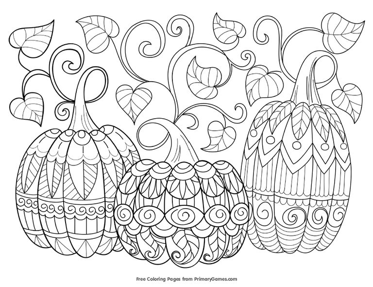 fall coloring pages - free autumn and fall coloring pages