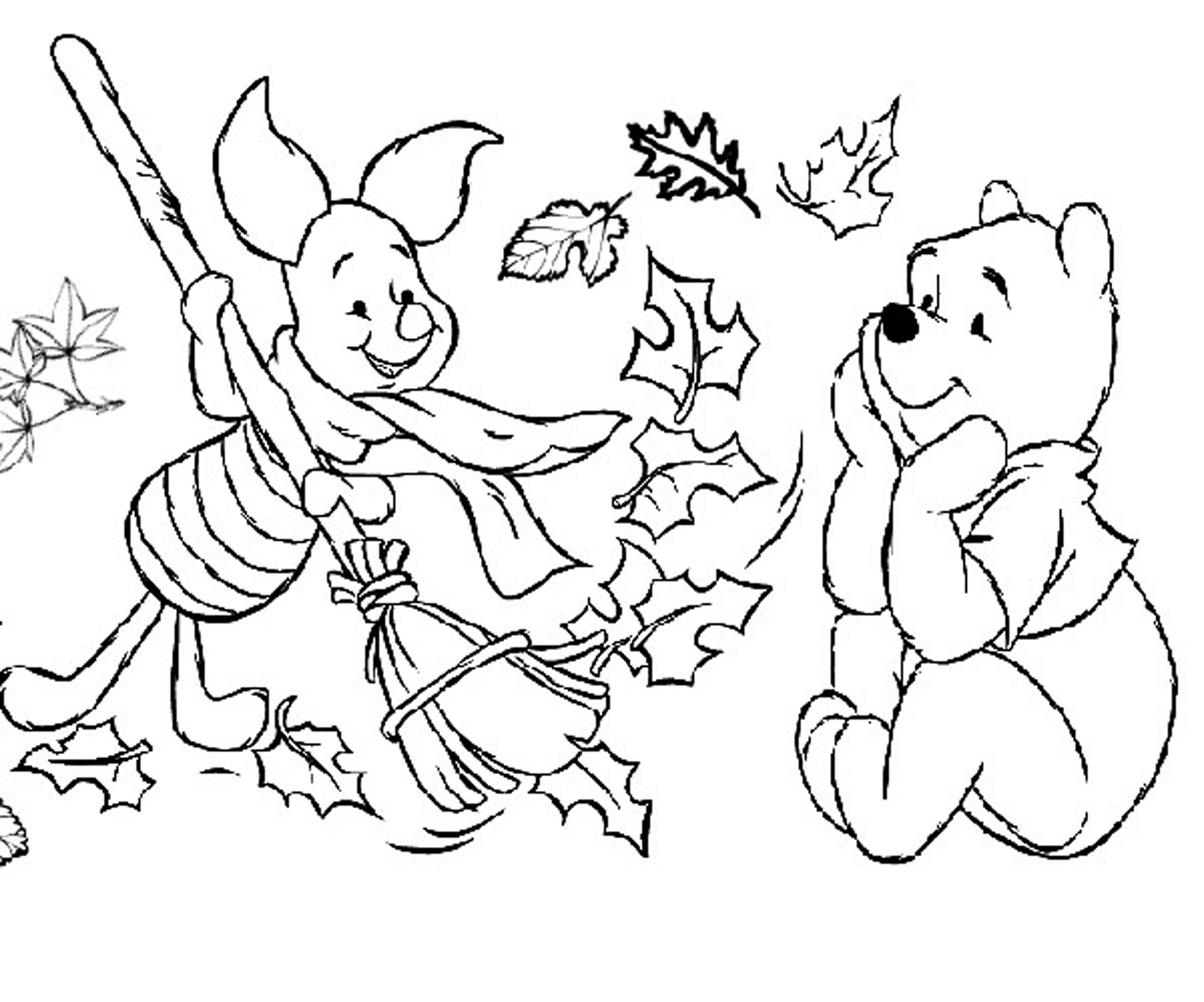 fall coloring pages - fall color pages printable