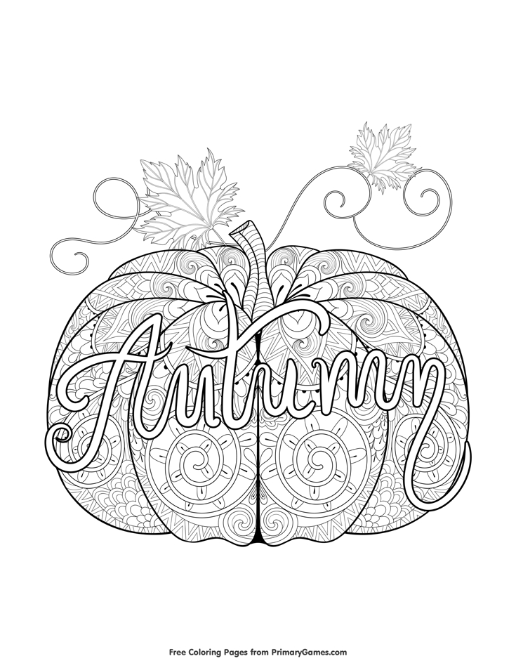 fall coloring pages -