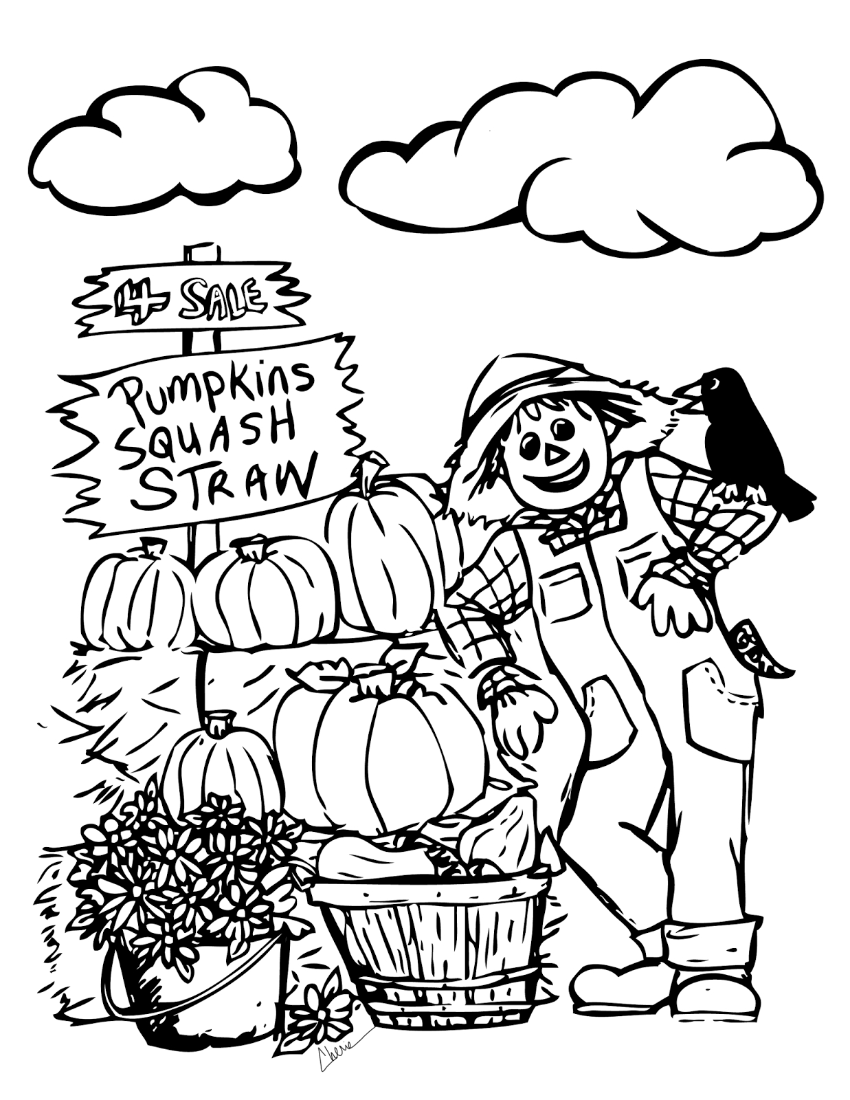fall coloring pages - fall coloring sheets printable