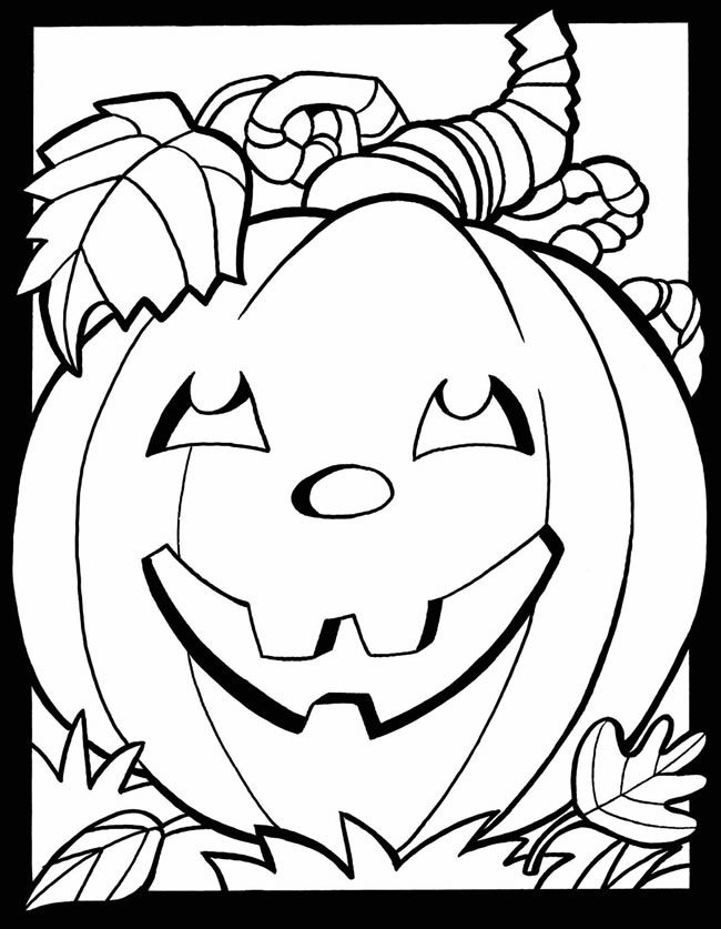fall coloring pages - free halloween coloring pages and more