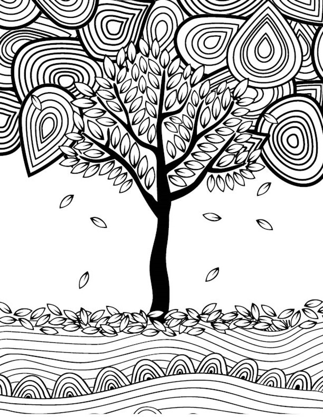 fall coloring pages for adults - 12 fall coloring pages for adults free printables