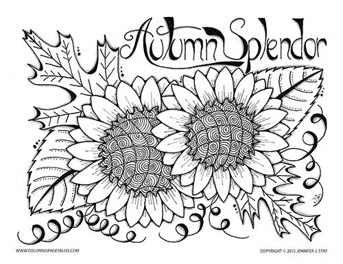 fall coloring pages for adults -