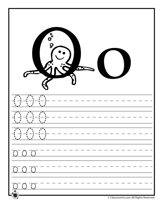 fall coloring pages for preschoolers - letter o practice
