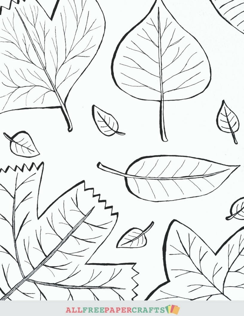 fall leaves coloring pages printable - Cascading Fall Leaves Printable Coloring Pages