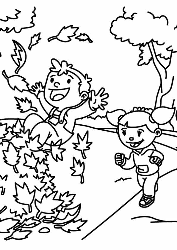 fall leaves coloring pages printable - fall coloring pages
