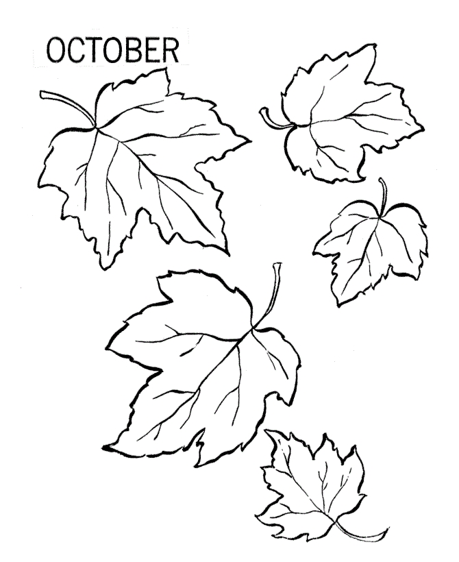 fall leaves coloring pages printable - leaf coloring pages