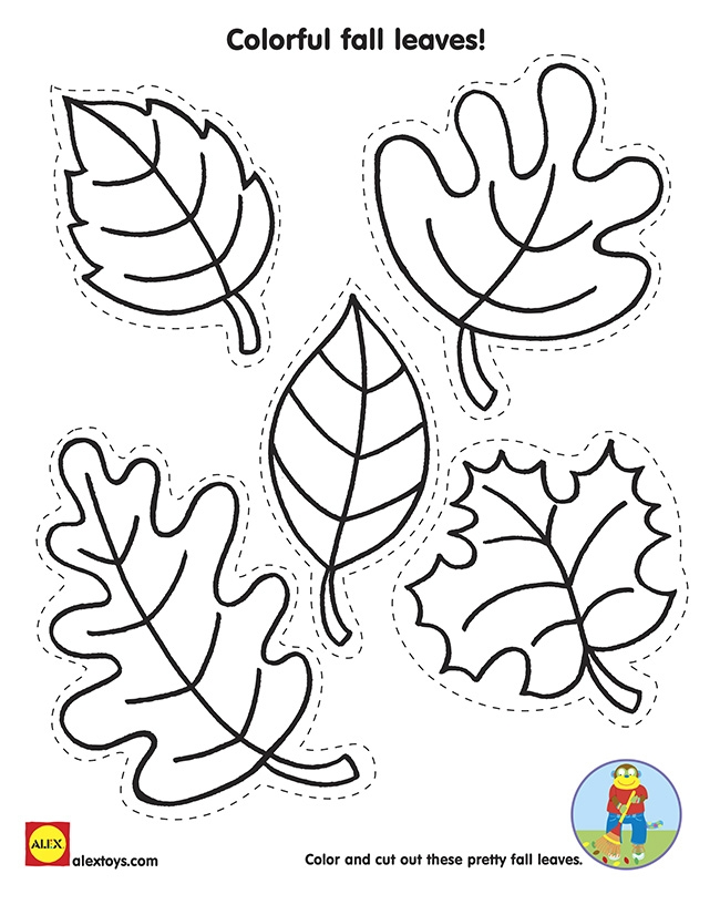 fall leaves coloring pages printable - wel e fall printables
