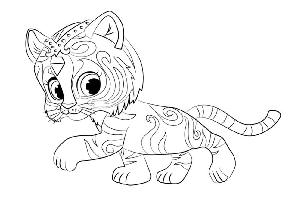 fancy coloring pages - shimmer and shine coloring pages