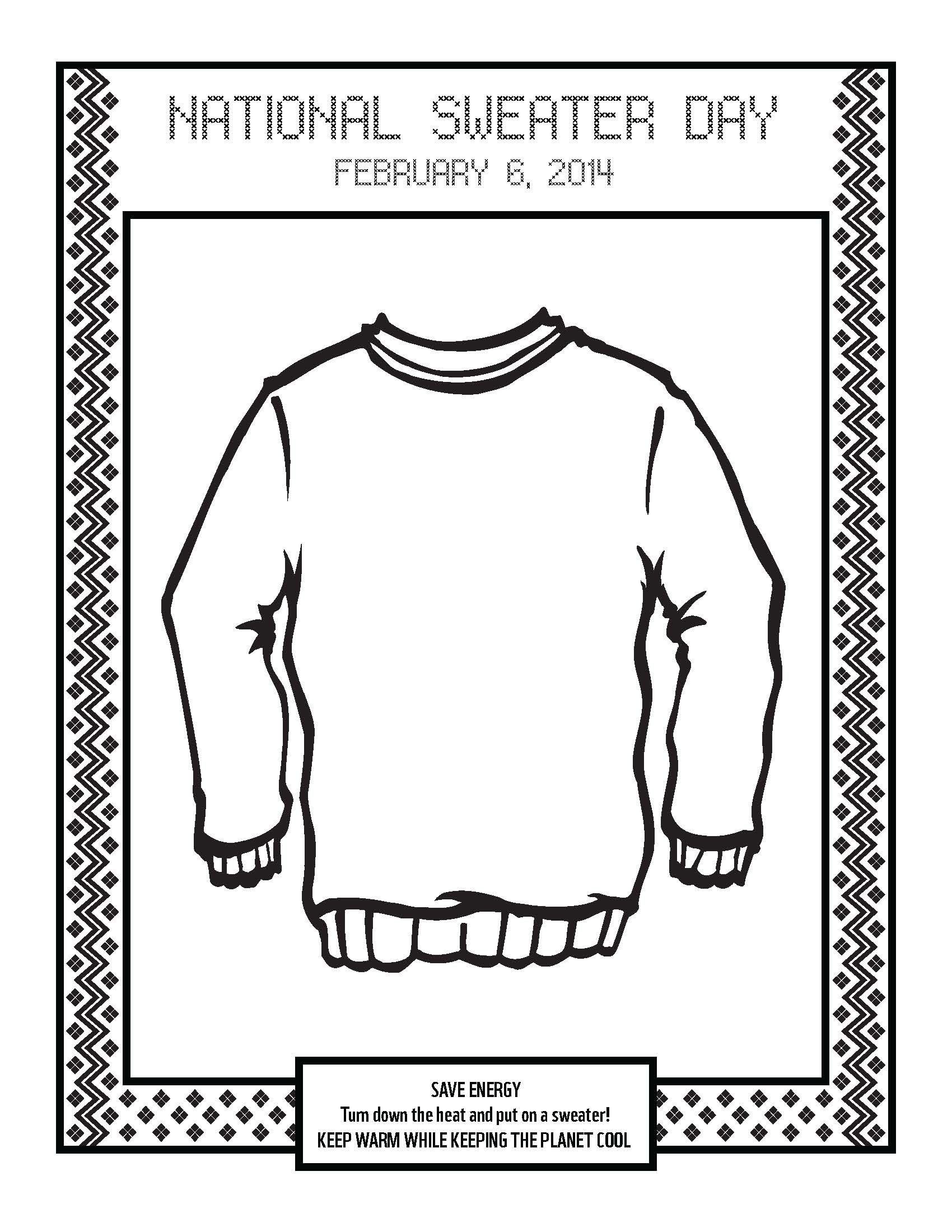 fancy nancy coloring pages - post sweater coloring page