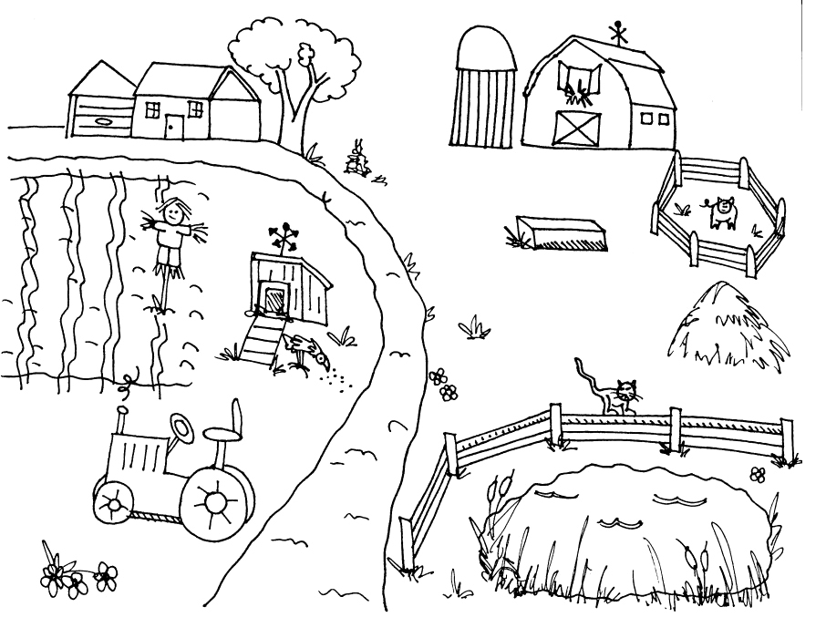 farm coloring pages - 2