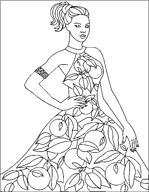 Fashion Coloring Pages - Fashion Coloring Pages Coloringpagesabc