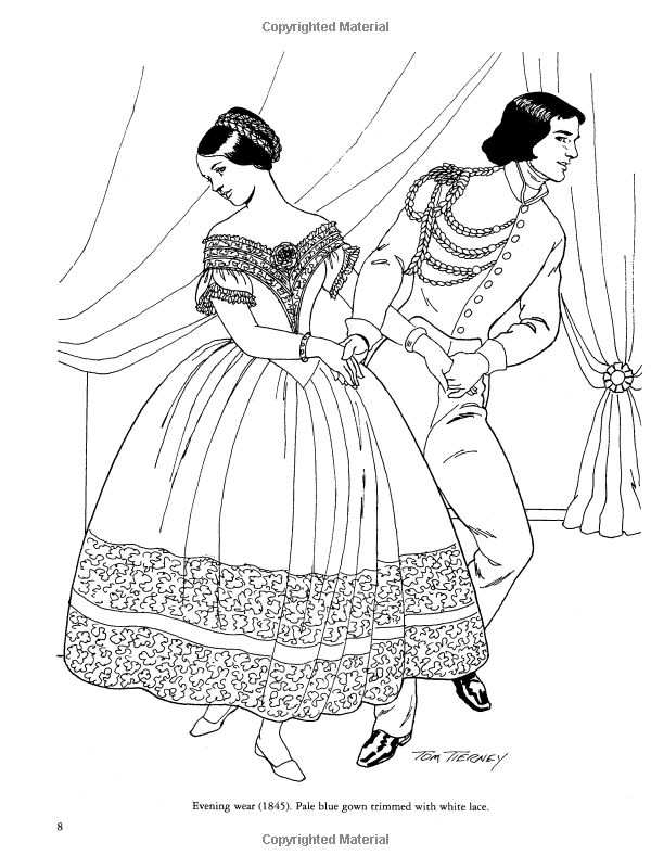 Fashion Coloring Pages - Victorian Fashions Coloring Book Dover Fashion Coloring