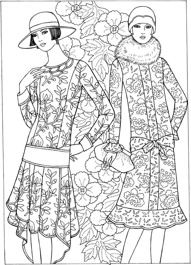 fashion coloring pages -