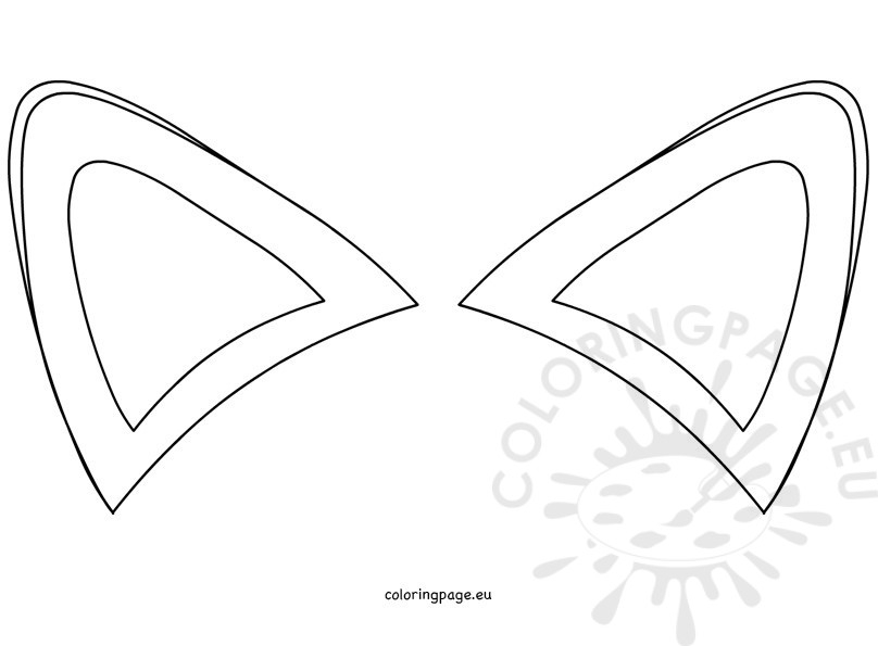 fathers day coloring pages - fox ears template