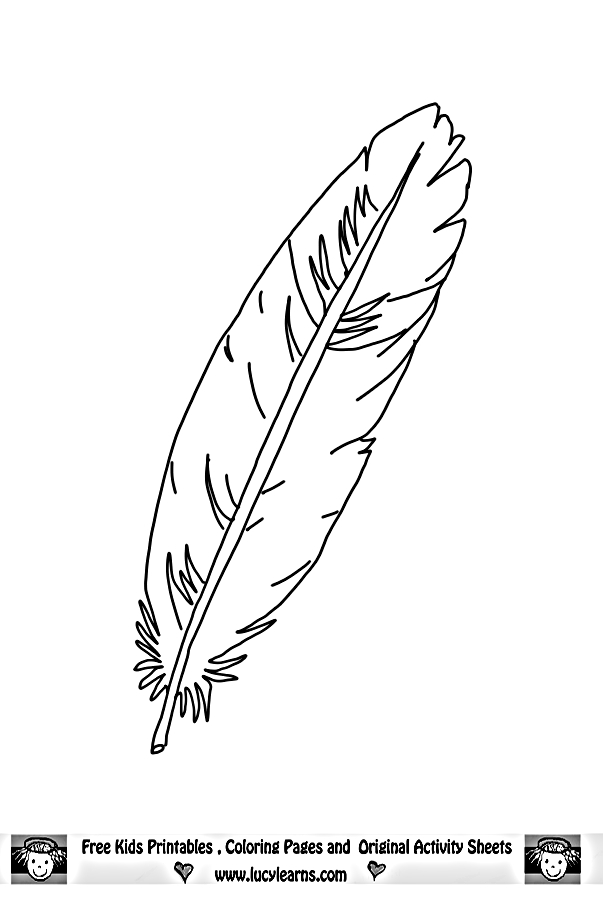 feather coloring pages -