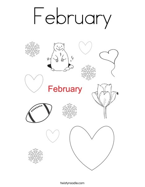 february coloring pages - february 146 coloring page