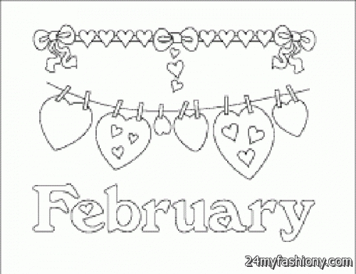 february coloring pages - february coloring pages printable 2016