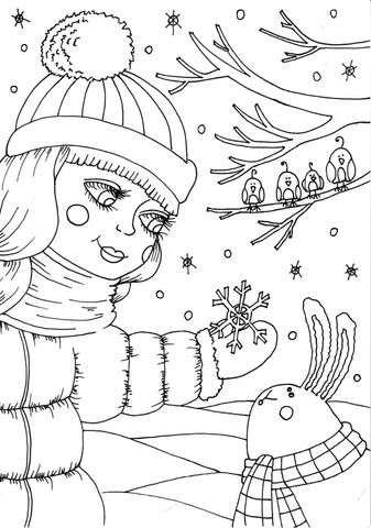 february coloring pages - peppy in february