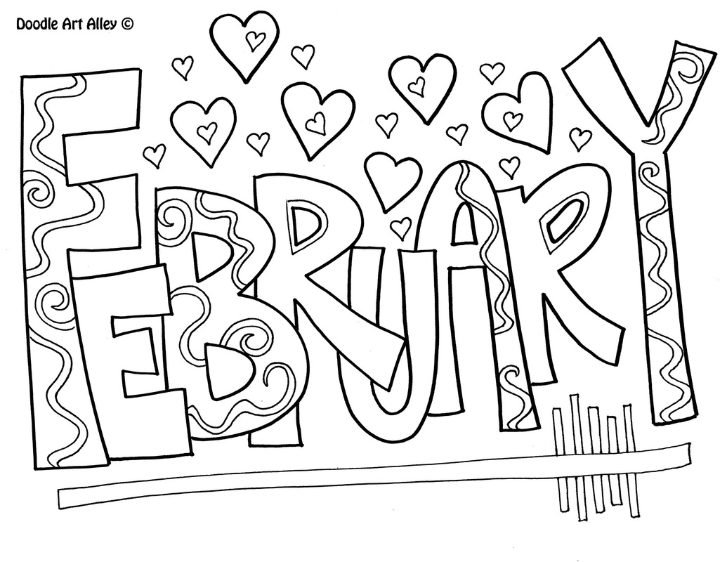 February Coloring Pages - the Most Stylish and Also Stunning February Coloring Pages