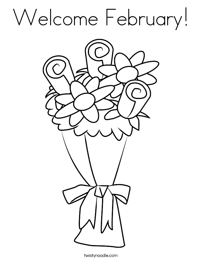 february coloring pages - wel e february 7 coloring page