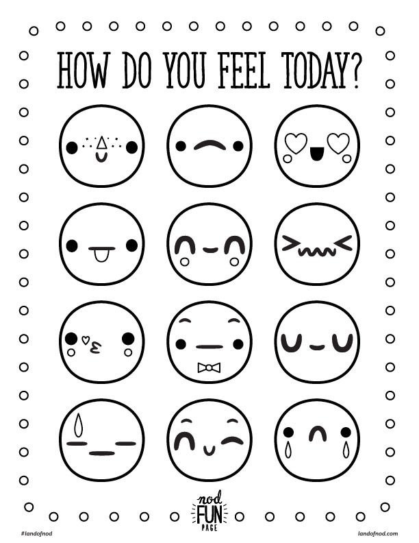 feelings coloring pages - feelings free printable coloring page