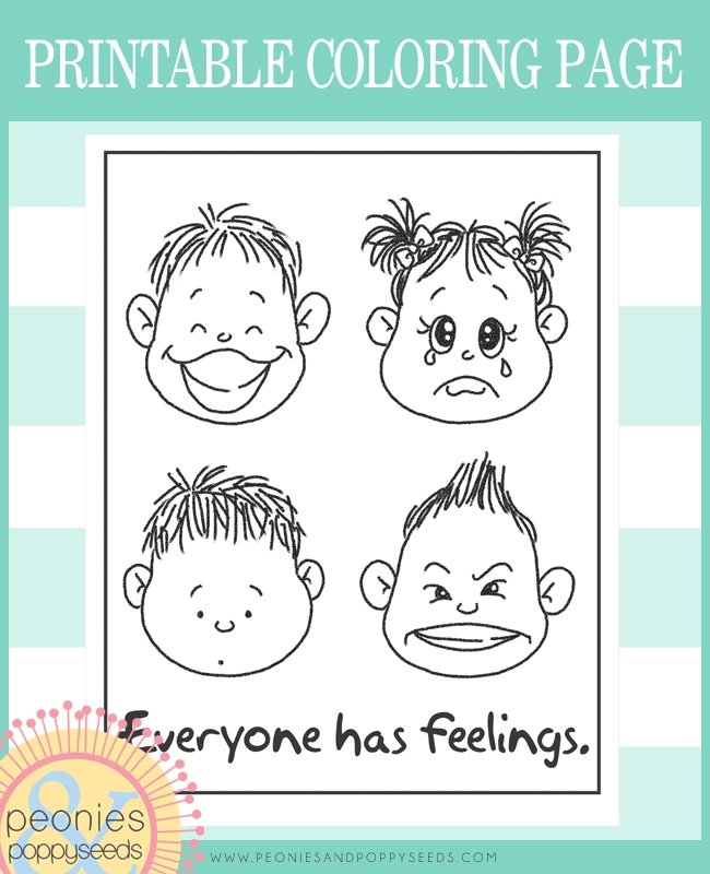 feelings coloring pages - q=faces of feelings