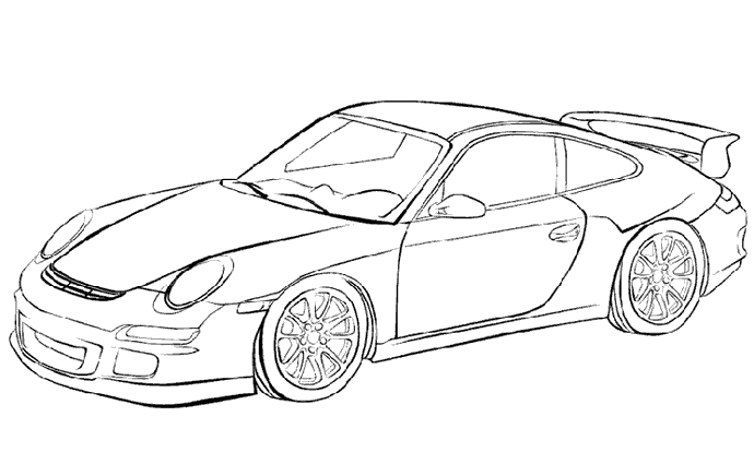 ferrari coloring pages - voiture sportive2