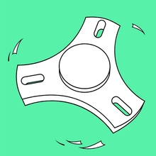 fidget spinner coloring page - fid spinner 3