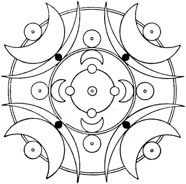 fidget spinner coloring page - geo1pf